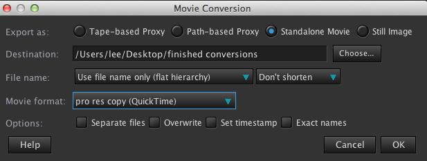 movie conversion