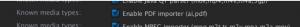 Enable PDF importer option