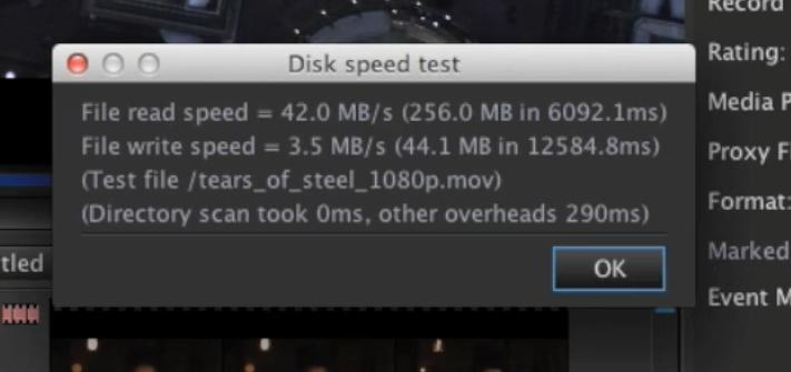 Disk speed test