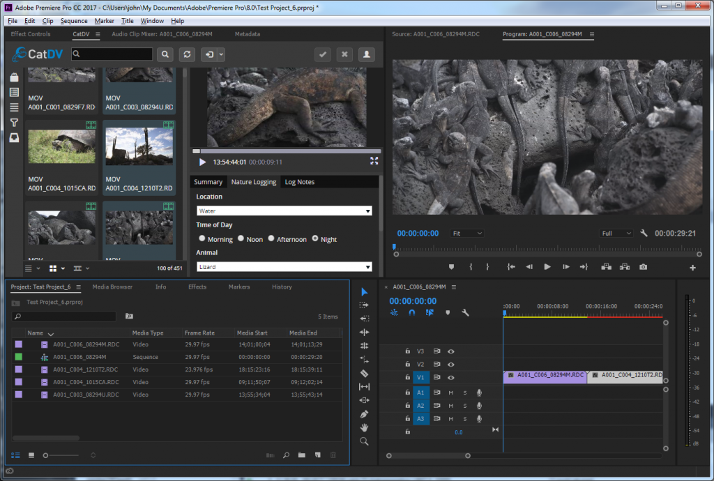 New CatDV Panels for Premiere and After Effects Streamline