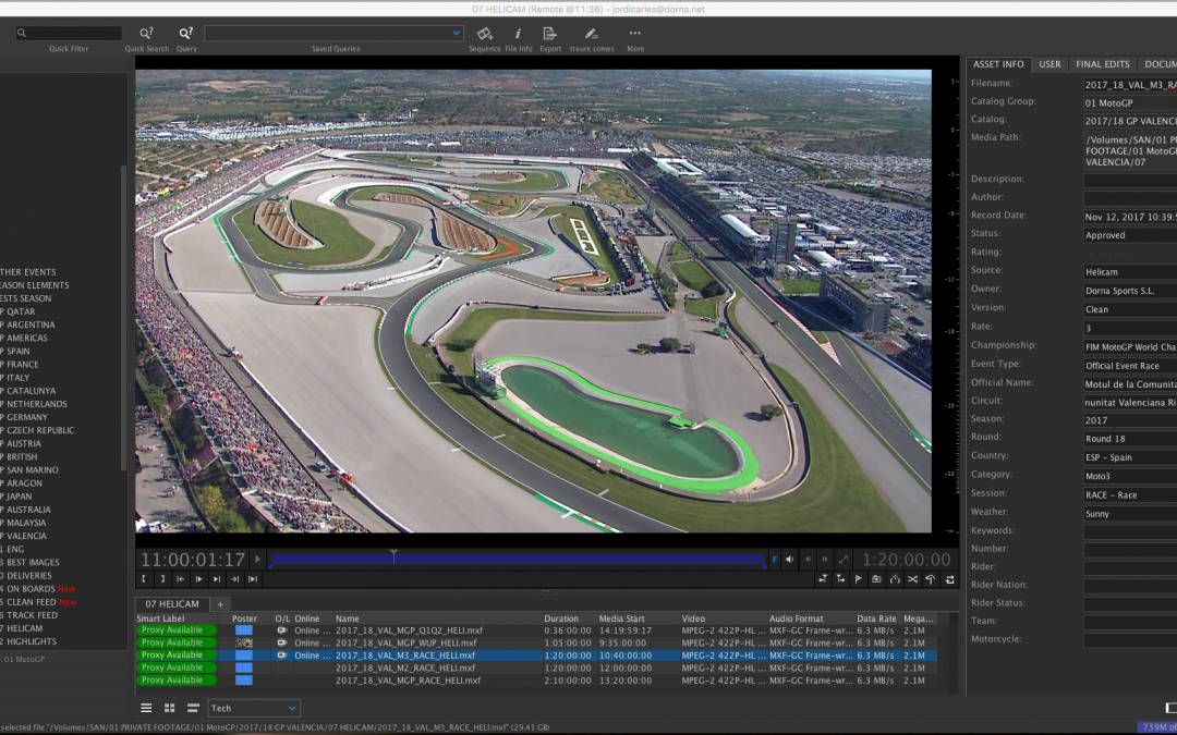 DORNA SPORTS RELIES ON CATDV FOR INGEST, ACCESS, AND ARCHIVING OF 2 MILLION MOTOGP ASSETS