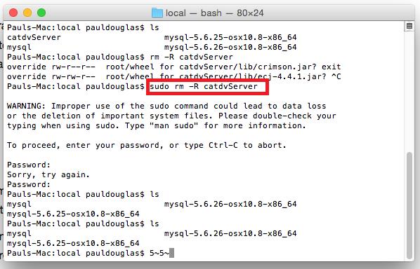 Removing CatDV Server from OSX - Squarebox