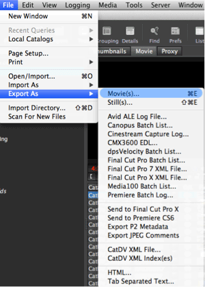 Exporting from CatDV clients - Squarebox