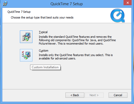 Can\u0027t find Quicktime for Java - Squarebox