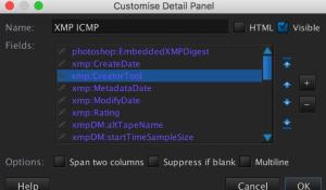 XMP ICMP details panel eg