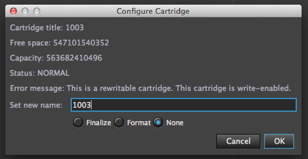 configure cartridge 2